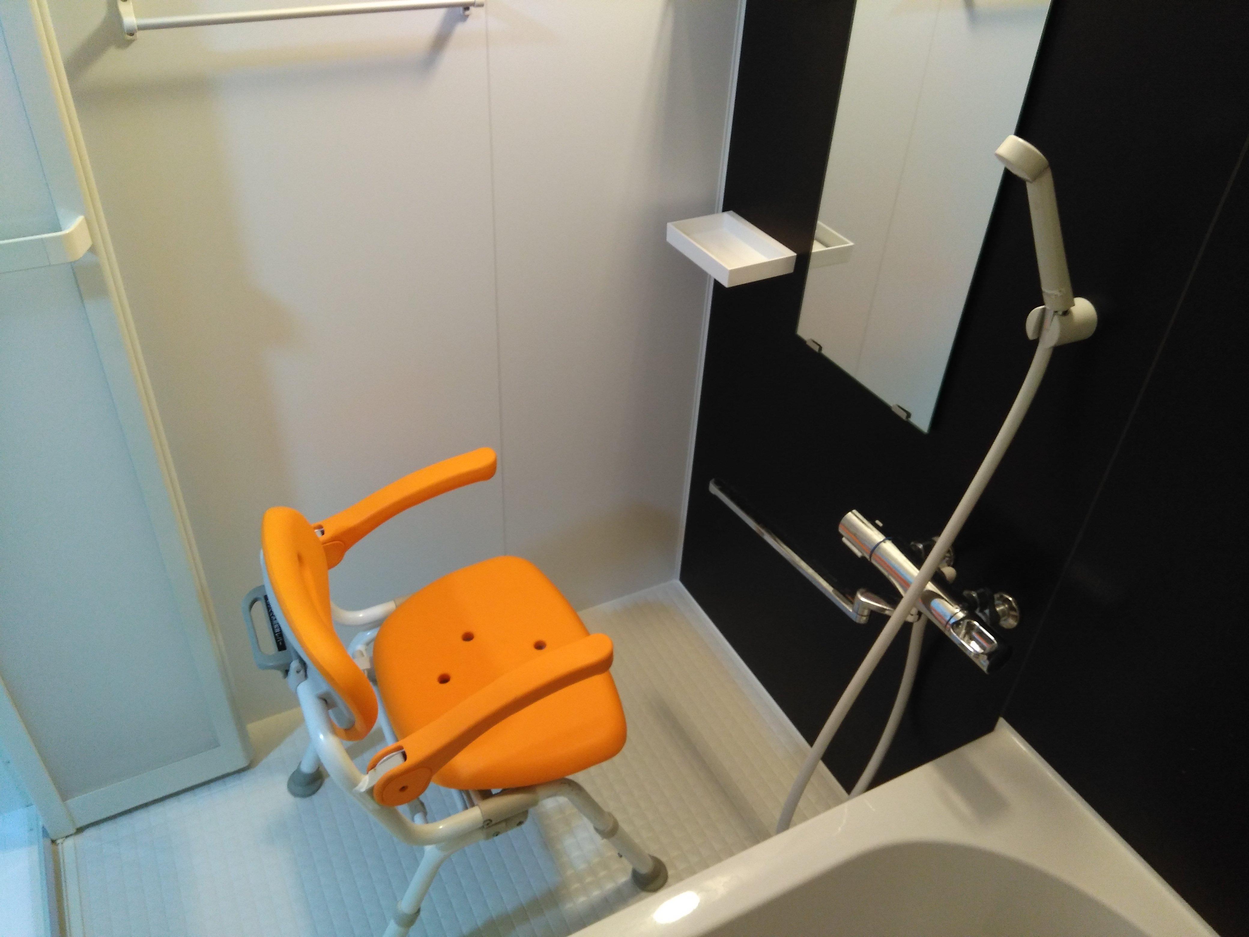 シャワーチェア使用例